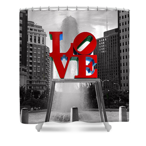 Love Isn't Always Black And White Shower Curtain
