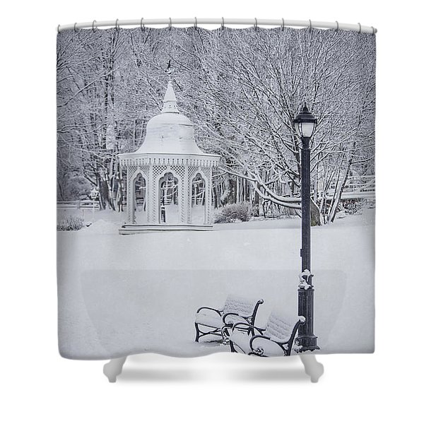 Love Through The Winter Shower Curtain