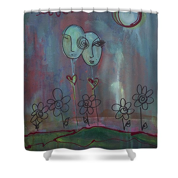 Love You Give Lollipops Shower Curtain