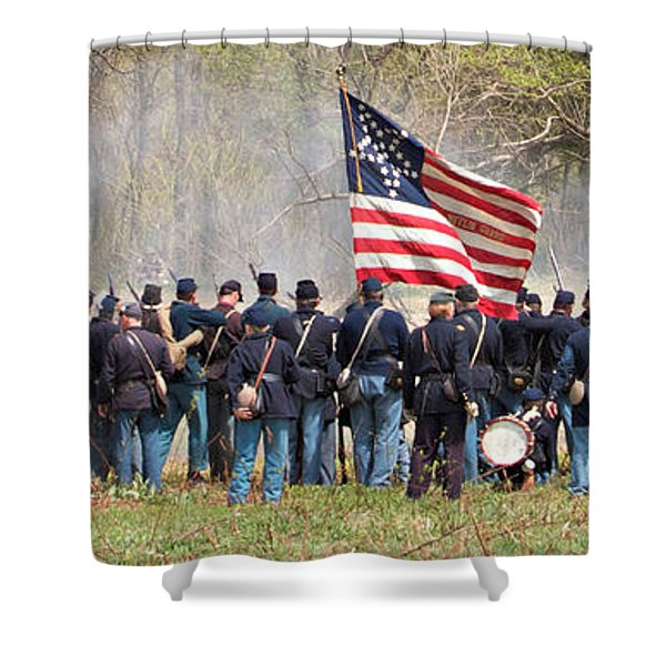 Lovely Flag Shower Curtain