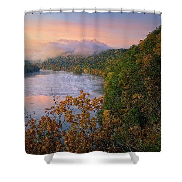 Lovers Leap Sunrise Shower Curtain