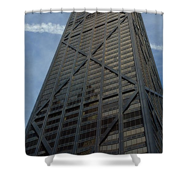 Low Angle View Of A Building, Hancock Shower Curtain
