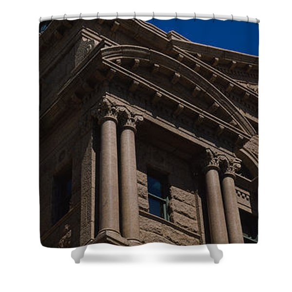 Low Angle View Of A Courthouse, Fort Shower Curtain