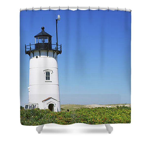 Low Angle View Of A Lighthouse, Race Shower Curtain