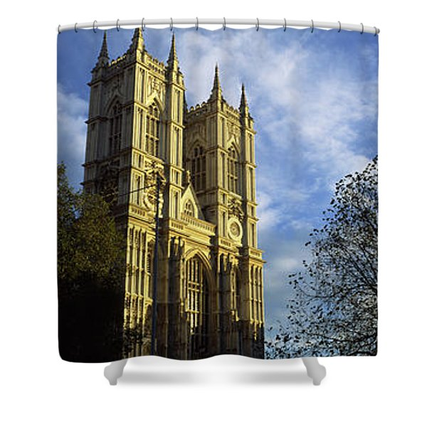 Low Angle View Of An Abbey, Westminster Shower Curtain
