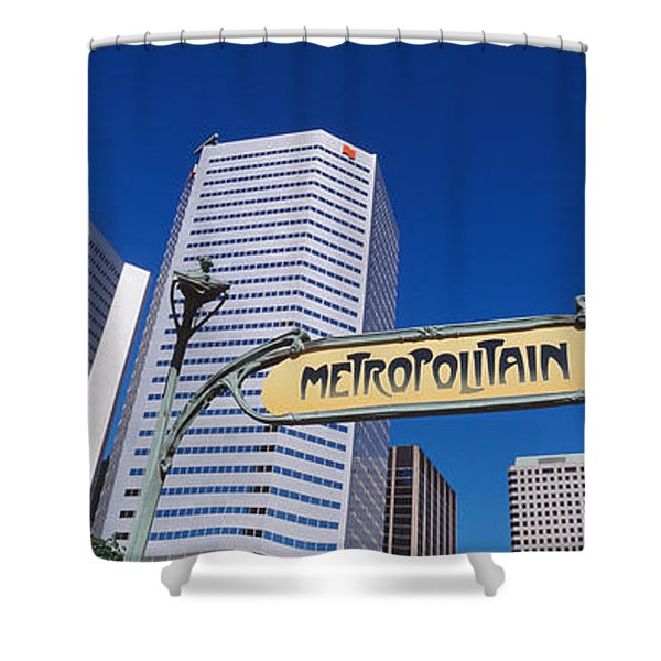 Low Angle View Of Buildings, Cite Shower Curtain