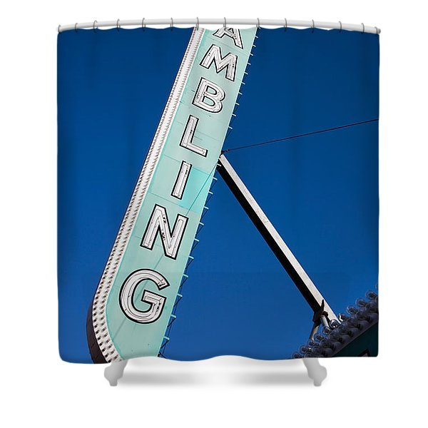 Low Angle View Of Sign Of El Cortez Shower Curtain
