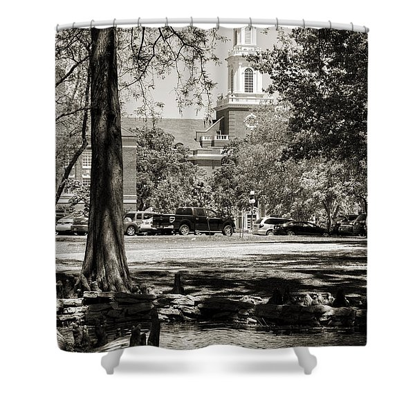Low Library Shower Curtain