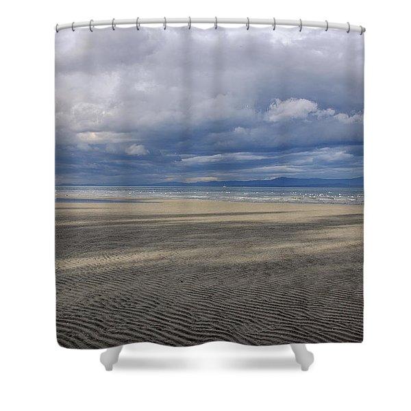 Low Tide Sandscape Shower Curtain