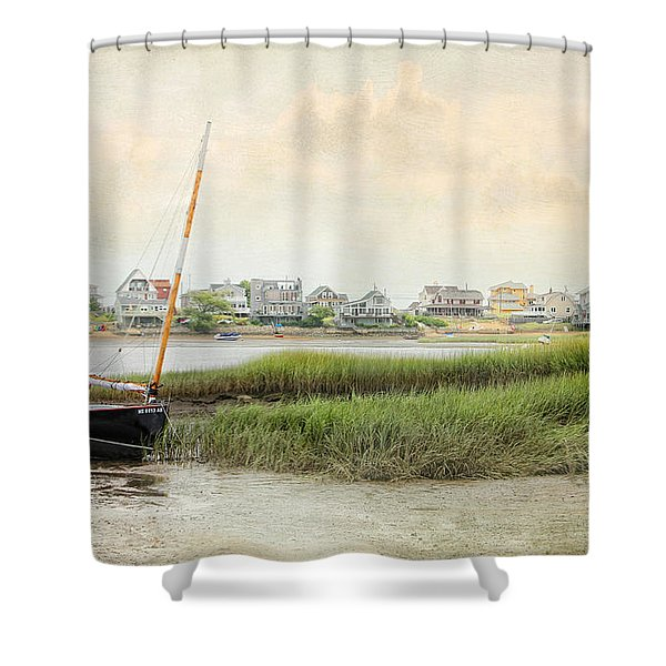 Low Tide On The Basin Shower Curtain