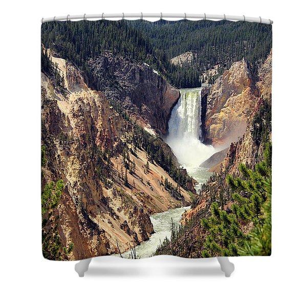 Lower Falls Of Yellowstone Shower Curtain