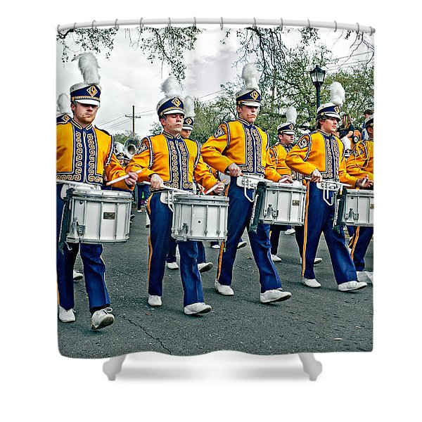 Lsu Marching Band Shower Curtain