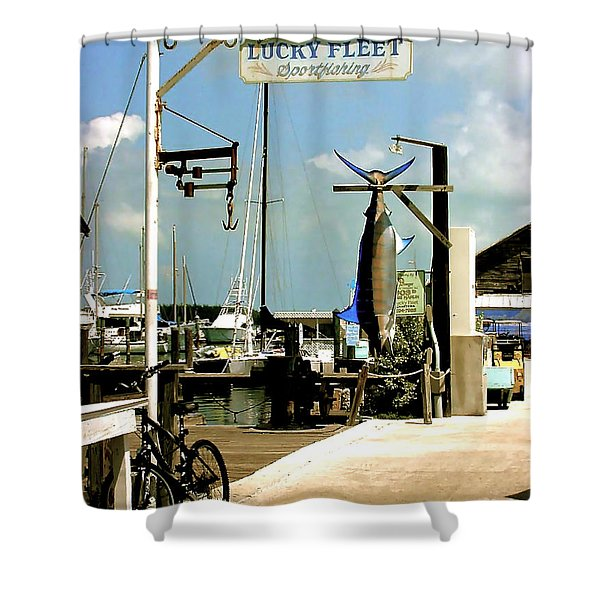 Lucky Fleet Key West  Shower Curtain