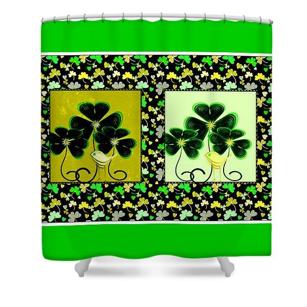 Lucky Irish Yellow Warblers Shower Curtain