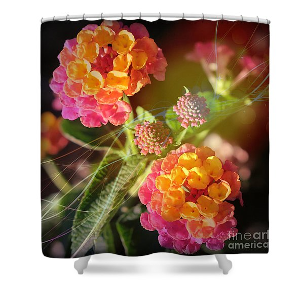 Lucky Lantana Shower Curtain