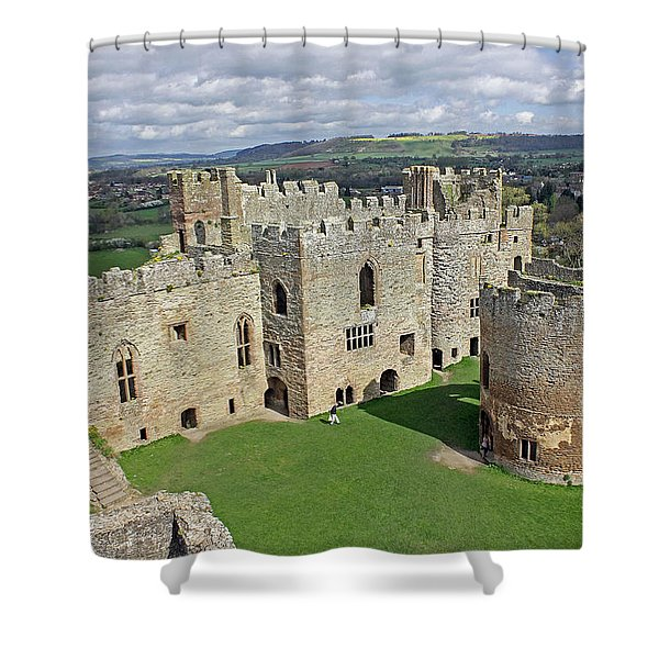Ludlow Castle Chapel And Great Hall Shower Curtain