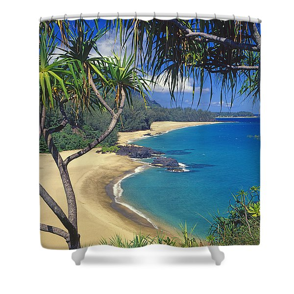 Lumahai Beach Shower Curtain