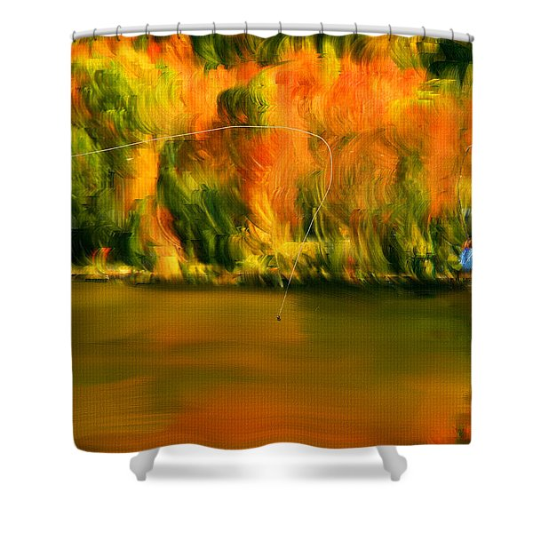 Lure Of Fly Fishing Shower Curtain
