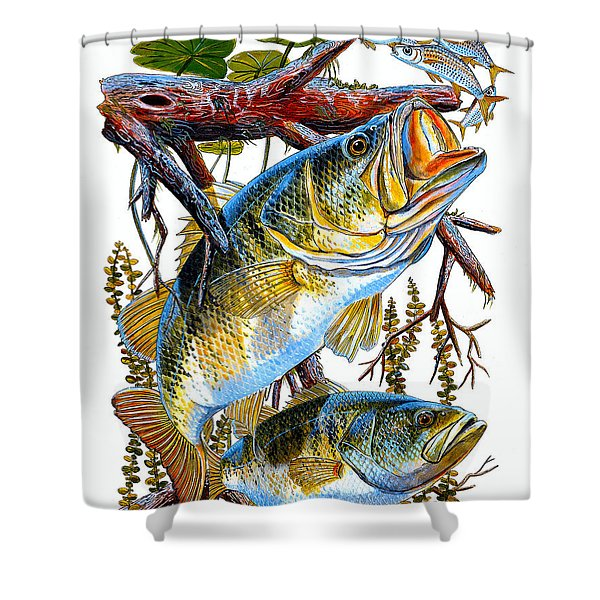 Lurking Bass Shower Curtain