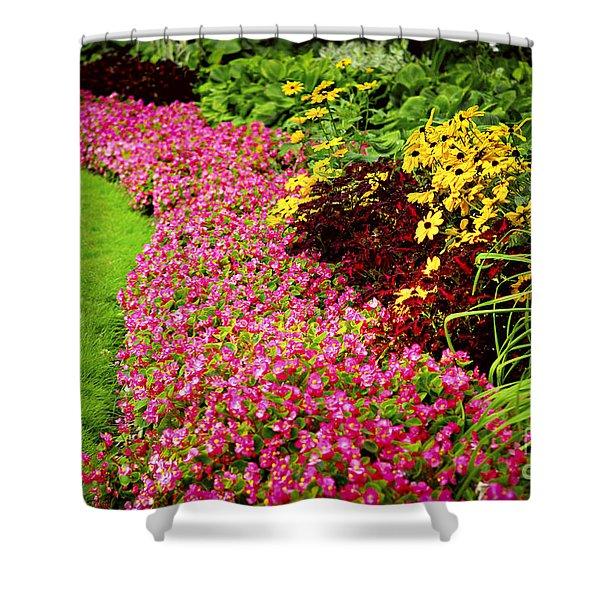 Lush Summer Garden Shower Curtain