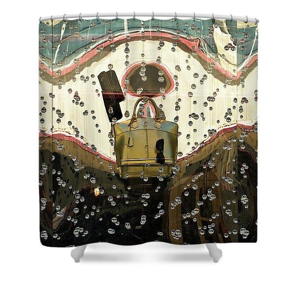 Lv Gold Bag 02 Shower Curtain