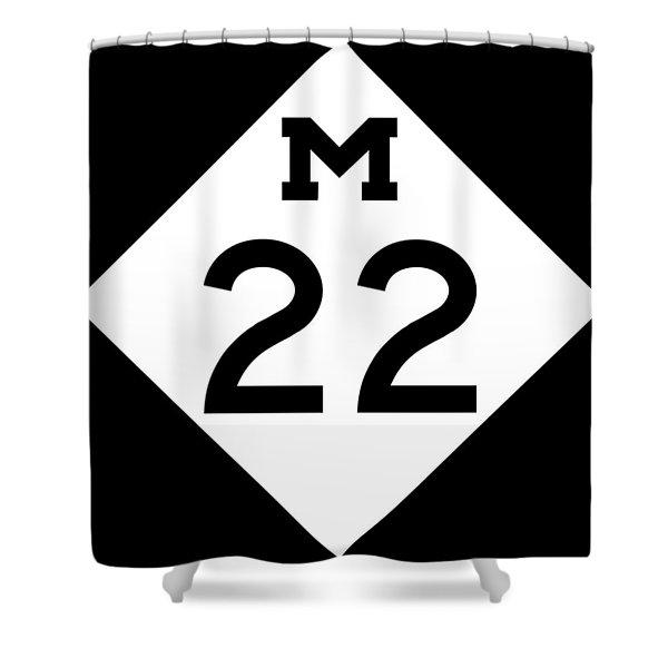 M 22 Shower Curtain