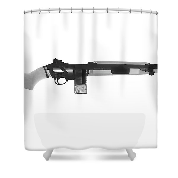 M1 Carbine X-ray Photograph Shower Curtain