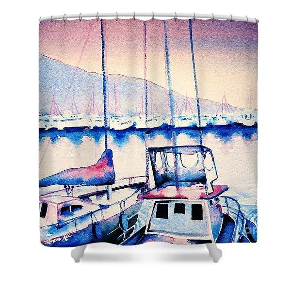 Maalaea Harbor Shower Curtain