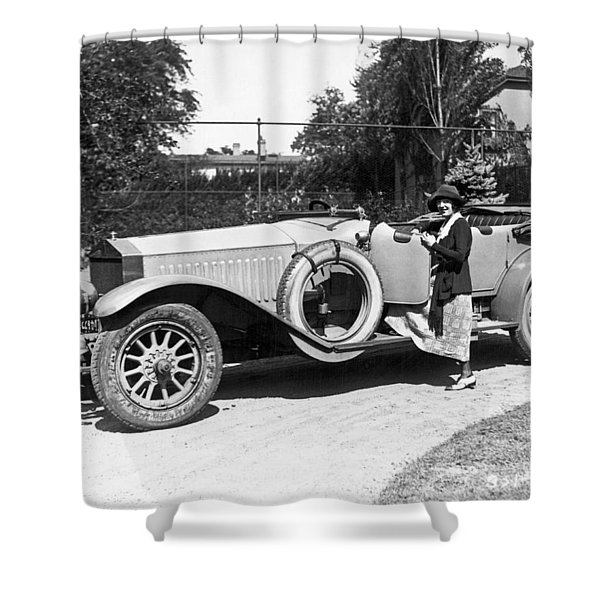 Mabel Normand In A Rolls Royce Shower Curtain