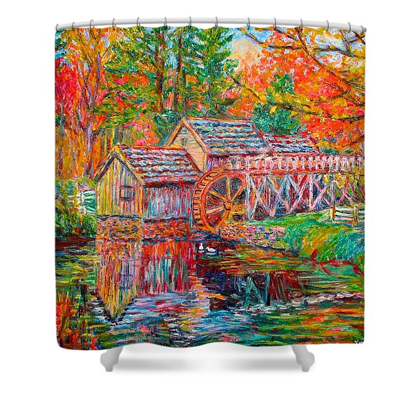 Mabry Mill In Fall Shower Curtain