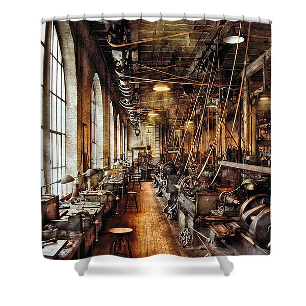 Machinist - Machine Shop Circa 1900's Shower Curtain