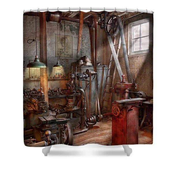 Machinist - The Modern Workshop  Shower Curtain