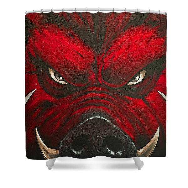 Mad Hog Shower Curtain