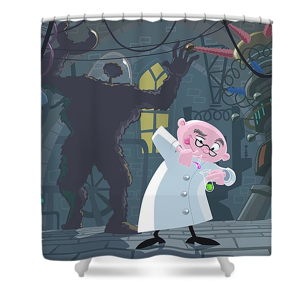 Mad Professor Experiment Shower Curtain