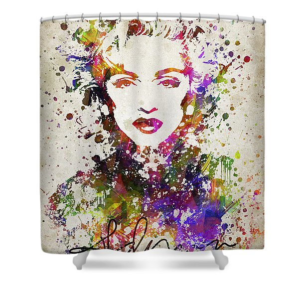 Madonna In Color Shower Curtain