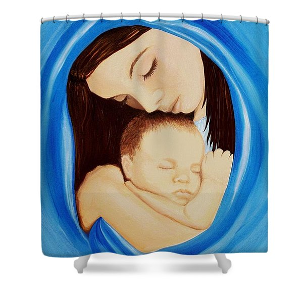 Madonna Of The Sea Shower Curtain