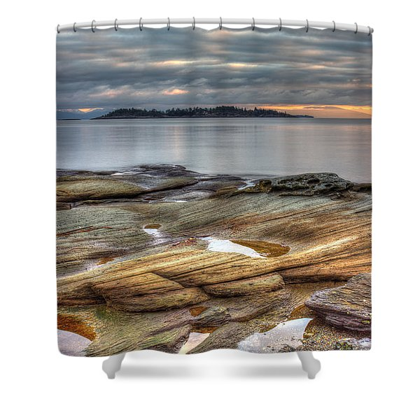 Shower Curtain featuring the photograph Madrona Sunrise by Randy Hall