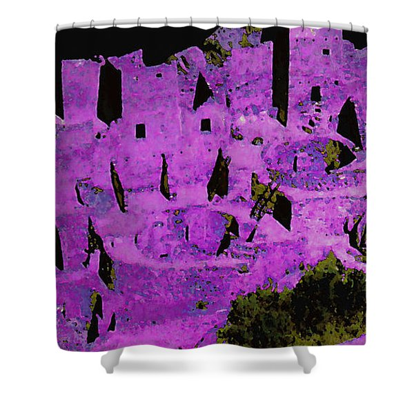 Magenta Dwelling Shower Curtain