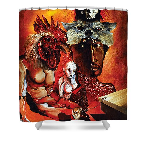 Magic Poultry Shower Curtain