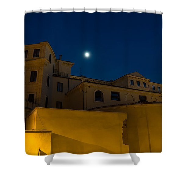 Magical Rome Italy - Yellow Facades And Moonlight Shower Curtain