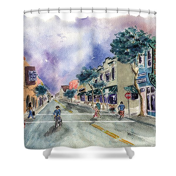 Main Street Half Moon Bay Shower Curtain