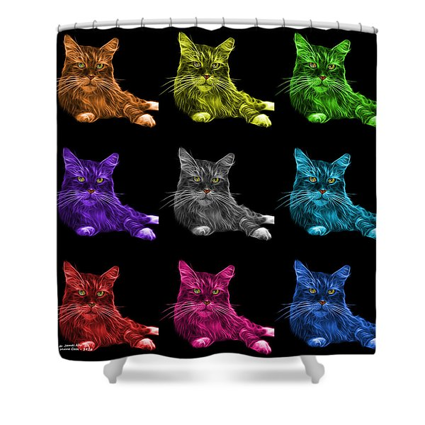 Maine Coon Cat - 3926 - Bb - M Shower Curtain