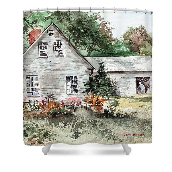 Maine Sunshine Shower Curtain