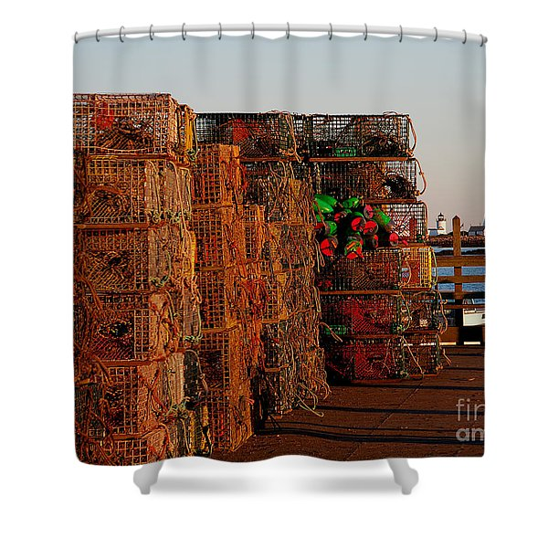 Maine Traps Shower Curtain