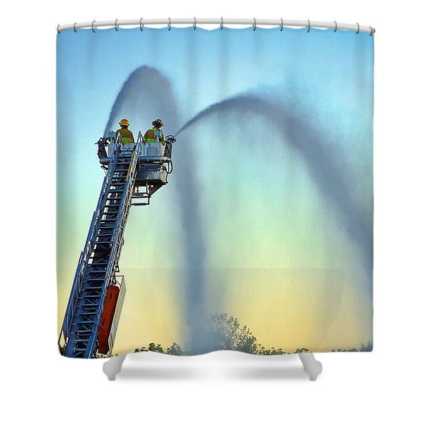 Shower Curtain featuring the photograph Mainstream At Sunset by Leeon Photo