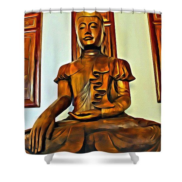 Majestic Buddha Shower Curtain