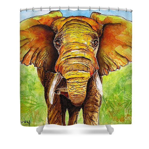 Shower Curtain featuring the painting Major Domo by Diane DeSavoy