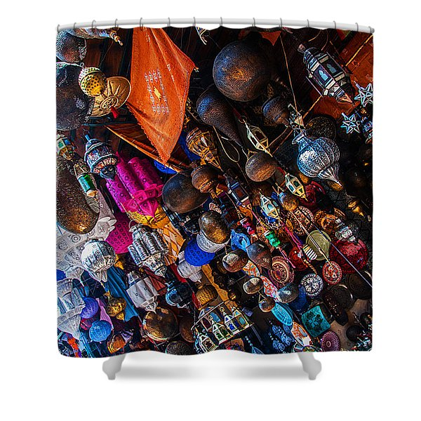 Marrakech Lanterns Shower Curtain