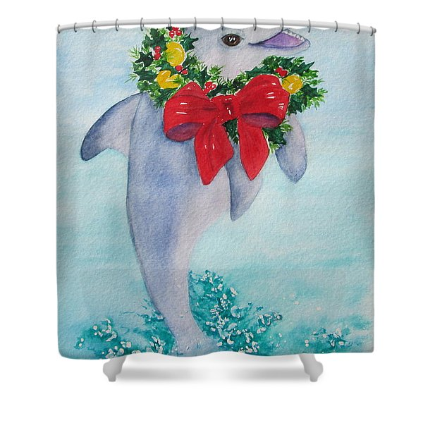 Shower Curtain featuring the painting Make A Splash by Diane DeSavoy