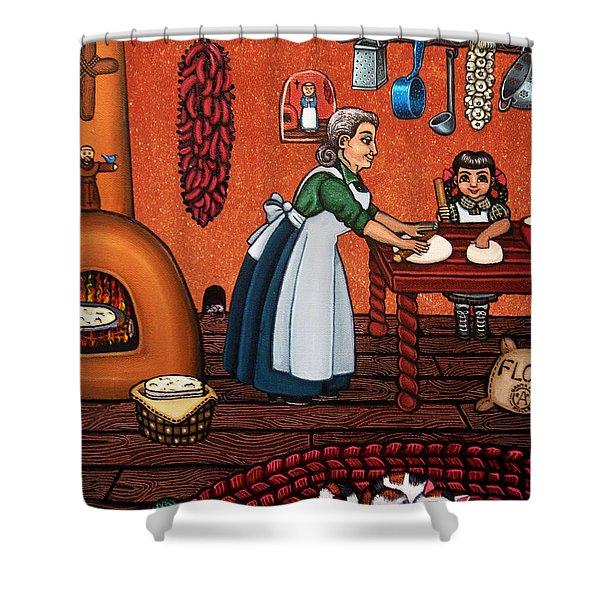 Making Tortillas Shower Curtain